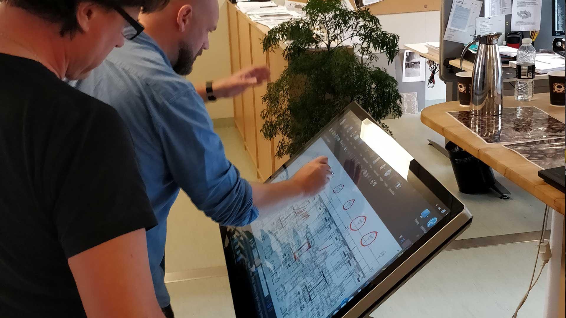 Det digitale skrivebord Visual Display